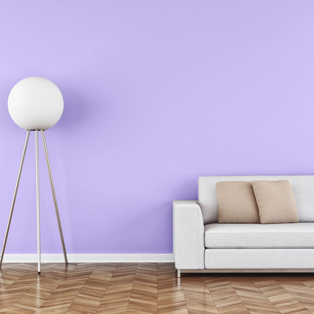 The colour lavender has a relaxing effect