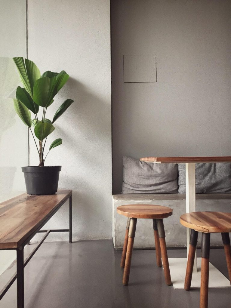 Bring nature into your home by adding a plant or two. Plants are a great way to decorate your minimalist home
